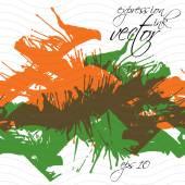 Colorful watercolor graffiti splash overlay elements, expressive — Stock Vector