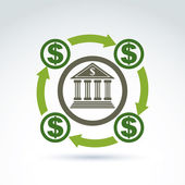 Bank kredit- och inlåningsstocken pengar tema ikonen, vektor konceptuella s — Stockvektor