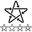 Star icons with arrows. — Vector de stock  #57828573