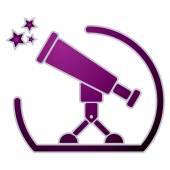 Telescope icon. — ストックベクタ