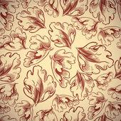 Autumn leaves seamless pattern. — Stock Vector
