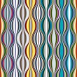 Colorful wavy lines textile seamless pattern. — Stock Vector #57830219