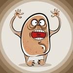 Funny cartoon scary monster. — Stock Vector #57831609