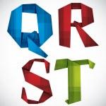Постер, плакат: Origami letters Q R S T