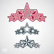 Vector eps8union symbol. Festive design element with stars, deco — Stock Vector #57836739
