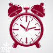 Vector 3d alarm clock with two symmetric bells, wake up conceptu — Cтоковый вектор #57837291