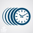 Vector timer, eps 8 clear vector illustration. Time runs fast co — Stock Vector #57837307