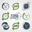 Graphic web vector 24 hours timer, around-the-clock flat pictogr — Stock Vector #57837379