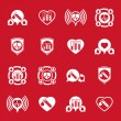 Cardiology and blood transfusion vector icons set, creative symb — Stock Vector #57837729