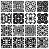 Monochrome seamless patterns design. — Stock Vector