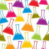 Chemistry seamless background. — Stock Vector