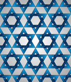 Star of David seamless pattern. — Stock Vector