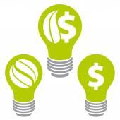 Eco saving energy icons. — Stock Vector