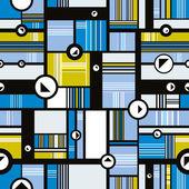 Techno style seamless pattern. — Stock Vector