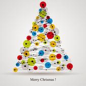Digital style Christmas tree. — Stock Vector