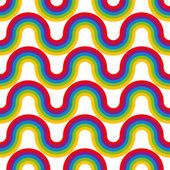 Rainbow seamless pattern. — 图库矢量图片