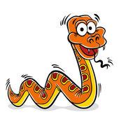 Orange snake cartoon. — Stock Vector
