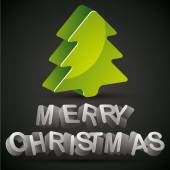 Christmas greetings card. — Stock Vector