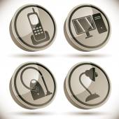 Household appliances icons set 4. — Stock Vector
