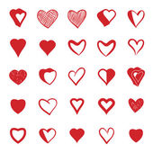 Set of 25 hearts icons. — Stock Vector