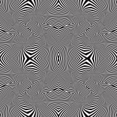 Optical lines seamless pattern. — Stock Vector