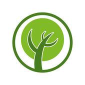 Simplistic tree icon. — Stock Vector