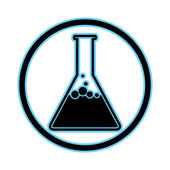 Chemical flask icon. — Stock Vector