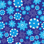 Snowflakes seamless pattern. — Stock Vector