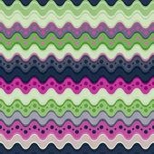 波浪线无缝模式. — 图库矢量图片