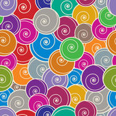Colorful curls seamless background. — ストックベクタ