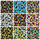 Geometric tiles seamless patterns set. — Stock Vector