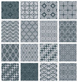 Vintage tiles seamless patterns set. — Stock Vector