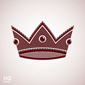 Royal design element, regal icon. Vector majestic crown, luxury — Stock Vector