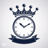 Best timing award vector eps8 icon, luxury wall clock with an ho — Stockvektor