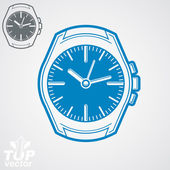 Vector graphic pocket watch illustration, classic detailed watch — Vetorial Stock