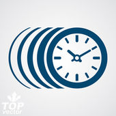 Vector timer, eps 8 clear vector illustration. Time runs fast co — Stock Vector