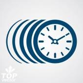 Vektorové časovač, eps 8 jasné vektorové ilustrace. Čas běží rychle, co — Stock vektor