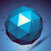 Blue 3D modern perspective abstract background, origami facet sp — Stockvector