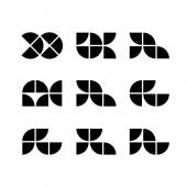 Abstract geometric simplistic icons set, vector symbols. — Stock Vector