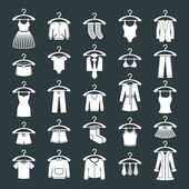 Clothes icon set, vector collection of fashion signs. — Stock Vector