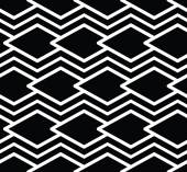 Monochrome symmetric seamless pattern with parallel lines, black — Vector de stock