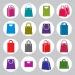 Shopping back icons vector set, shopping theme simplistic symbol — Stock Vector #57841353