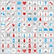 100 medical icons set. — Stock Vector #57841431