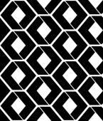Monochrome endless vector texture with geometric figures, motif — Vecteur