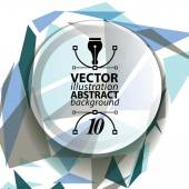 Geometric vector abstract 3D complicated op art backdrop, eps10  — Stock Vector