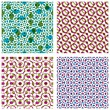 Four colorful dotted seamless patterns, set of bright polka dot — Stock Vector #58726347