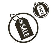 Tag avec le mot vente, icône de couleur simple simple détail thème vector — Vecteur