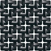 Geometric 3d grating wallpaper, abstract intertwined seamless pa — Stock Vector