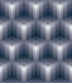 Geometric 3d decorative wallpaper, abstract squared seamless pat — Stock Vector
