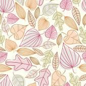 осенние листья бесшовный фон. — Cтоковый вектор